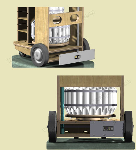 Woodturners Tool Cart Power Distribution
