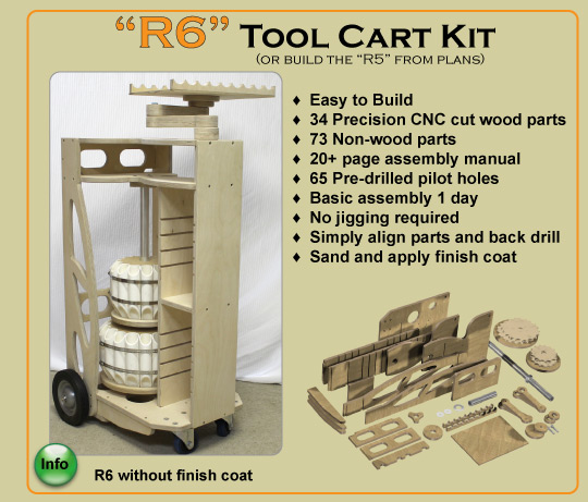 Wood Turners Tool Cart